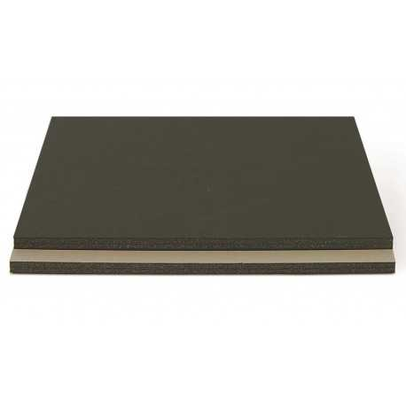 Carton mousse Noir/Gris 5mm (50x70cm)