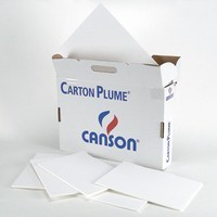 Carton plume blanc Canson 5mm Format 50x65