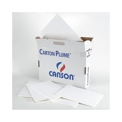 Carton plume blanc Canson 10mm Format 50x65cm