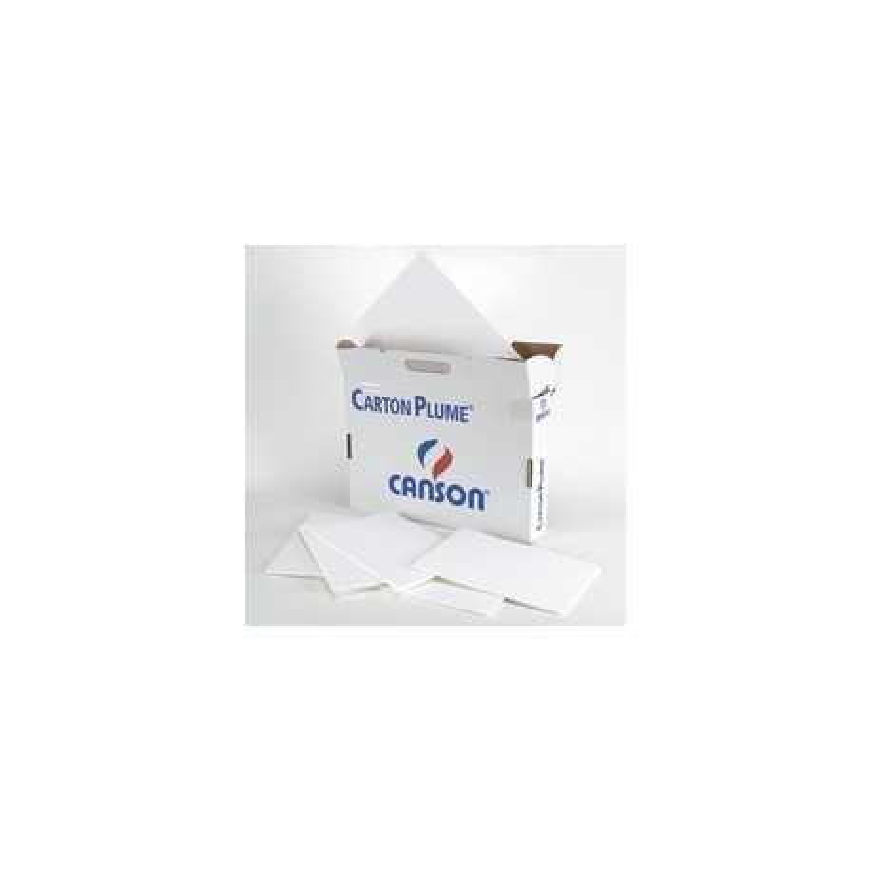 Carton plume blanc Canson 10mm Format 50x65cm