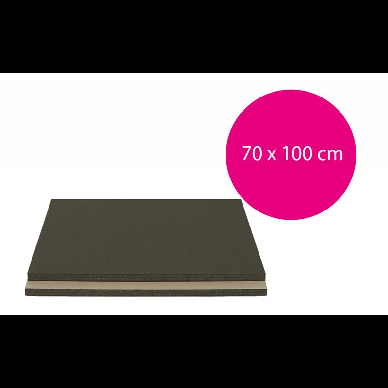 Carton mousse Noir/Gris 5mm (70x100cm)