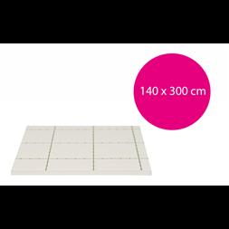 Carton plume adhésif blanc 5 mm 140x300cm