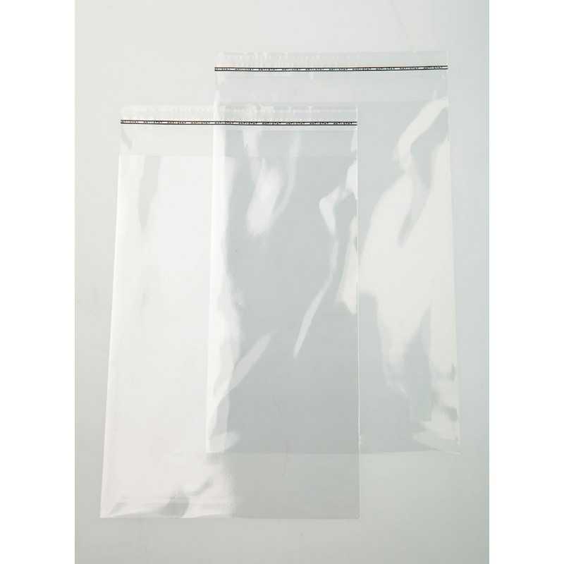 Pochette transparente adhésive 10x15cm (brut 11x16cm)