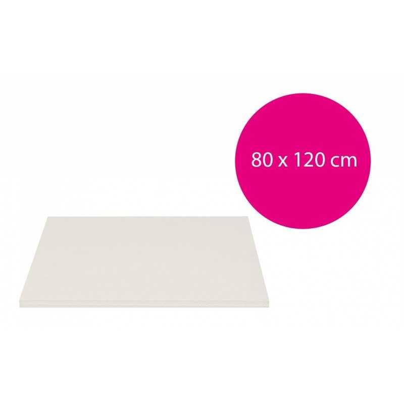 Carton mousse blanc 10mm (80x120cm)