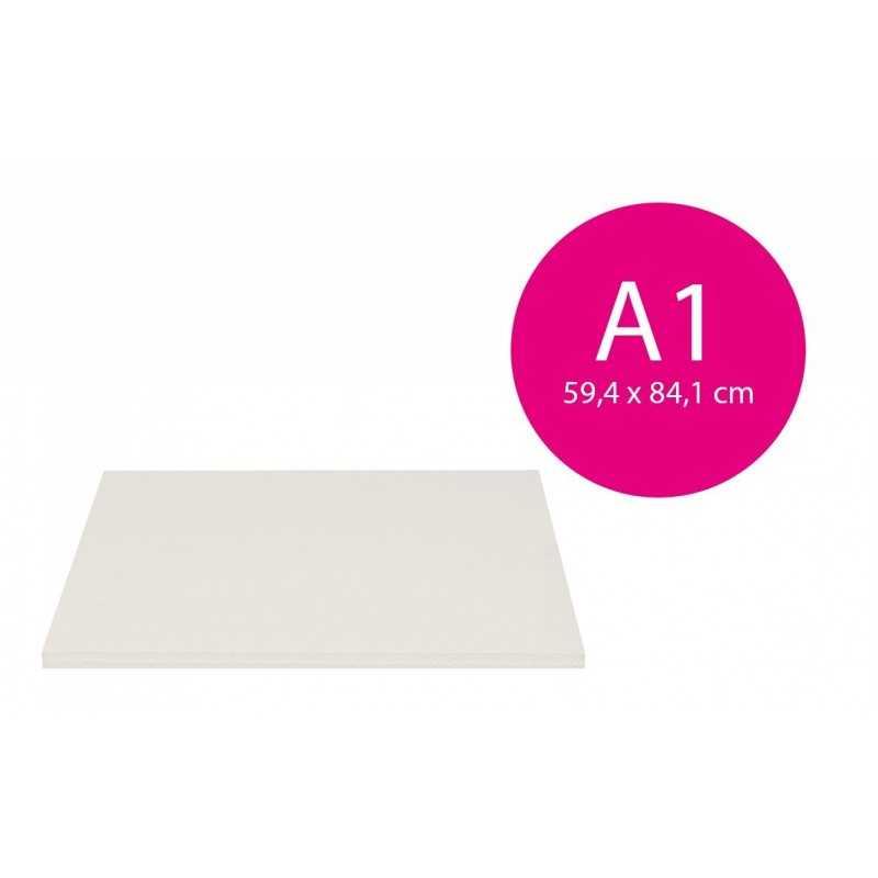 Carton mousse blanc 5mm (A1 - 59,4x84,1cm)