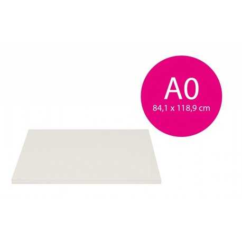 Carton mousse blanc 3mm (A0-84,1x118,9cm)