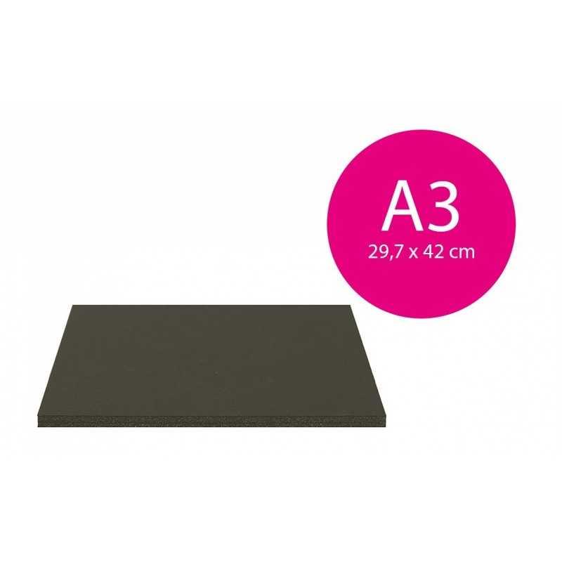 Carton mousse Noir 5mm (A3-29,7x42cm)